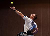 Alphen aan den Rijn, Netherlands, December 16, 2018, Tennispark Nieuwe Sloot, Ned. Loterij NK Tennis, Final wheelchair men: Maikel Scheffers (NED)<br /> Photo: Tennisimages/Henk Koster