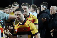 Tom Hodgson of Richmond Rugby in the guard of honour during the English National League match between Richmond and Blackheath  at Richmond Athletic Ground, Richmond, United Kingdom on 4 January 2020. Photo by Carlton Myrie.