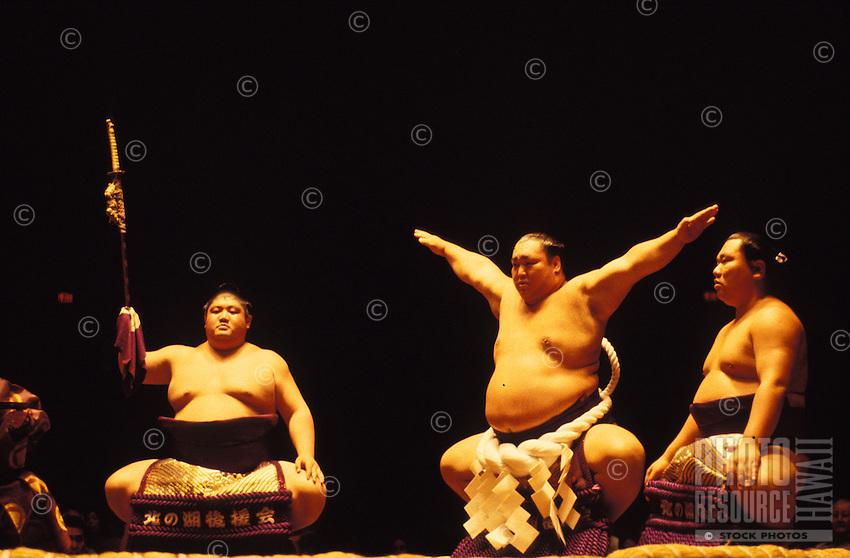 Sumo wrestlers in Hawaii
