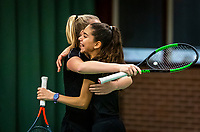 Wateringen, The Netherlands, December 15,  2019, De Rhijenhof , NOJK juniors doubles , Final girls 12  years, Britt du Pree (NED) and Lina Ilahi (NED) winners<br /> Photo: www.tennisimages.com/Henk Koster
