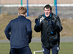 St Johnstone Training….15.03.19<br />Manager Tommy Wright pictured during a short sprint competion in training this morning with Liam Craig at McDiarmid Park ahead of tomorrow's game against St Mirren.<br />Copyright Perthshire Picture Agency<br />Tel: 01738 623350  Mobile: 07990 594431