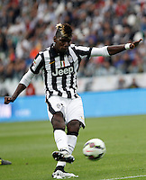 Calcio, Serie A: Juventus vs Napoli. Torino, Juventus Stadium, 23 maggio 2015. <br /> Juventus' Paul Pogba in action during the Italian Serie A football match between Juventus and Napoli at Turin's Juventus Stadium, 23 May 2015.<br /> UPDATE IMAGES PRESS/Isabella Bonotto