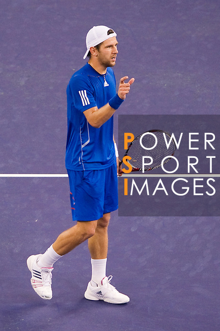 SHANGHAI, CHINA - OCTOBER 14:  Jurgen Melzer of Austria reacts after loosing a point against Rafael Nadal of Spain during day four of the 2010 Shanghai Rolex Masters at the Shanghai Qi Zhong Tennis Center on October 14, 2010 in Shanghai, China.  (Photo by Victor Fraile/The Power of Sport Images) *** Local Caption *** Jurgen Melzer