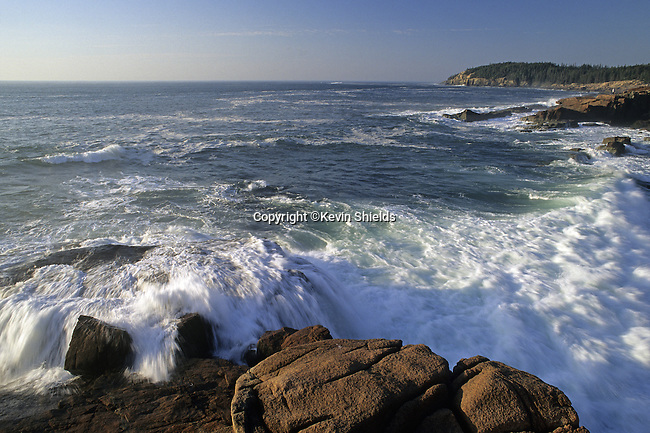 Surf at Acadia National Park, Maine, USA