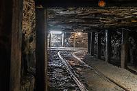 Beckley, West Virginia.  Beckley Exhibition Coal Mine, Inside the Mine.