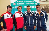 Austria, Kitzbuhel, Juli 16, 2015, Tennis, Davis Cup, Draw, Doubles match on saturday <br /> Photo: Tennisimages/Henk Koster