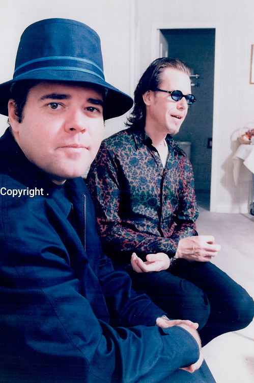 1997 <br /> FILE PHOTO - ARCHIVES -<br /> <br /> 1997 FILE -<br /> <br /> INXS's Andrew Farriss; left; and Kirk Pengilly reflect on their success.<br /> <br /> PHOTO : <br /> Bull, Ron<br /> <br /> PHOTO : Ron BULL - Toronto Star Archives - AQP