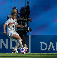 GRENOBLE, FRANCE - JUNE 22: Svenja Huth #9 of the German National Team brings the ball forward during a game between Panama and Guyana at Stade des Alpes on June 22, 2019 in Grenoble, France.