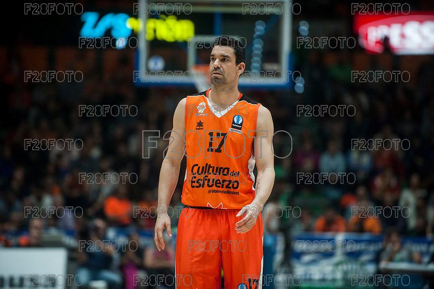 VALENCIA, SPAIN - NOVEMBER 18: Rafa Martinez during EUROCUP match between Valencia Basket Club and CAI SLUC Nancy at Fonteta Stadium on November 18, 2015 in Valencia, Spain