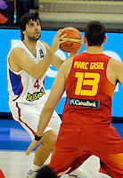 Kosarka Basketball<br /> World Basketball Championship Spain 2014<br /> Milos Teodosic<br /> <br /> Granada. 09.01.2014.<br /> foto: Starsportphoto.com