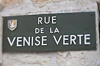 Europe/France/Poitou-Charentes/79/Deux-Sèvres/Marais Poitevin/Saint-Hilaire-la-Palud : Plaque de la Rue de la Venise Verte