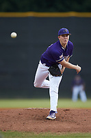 Western Carolina Catamounts starting pitcher Zebby Matthews (15) in action against the St. John's Red Storm at Childress Field on March 12, 2021 in Cullowhee, North Carolina. (Brian Westerholt/Four Seam Images)