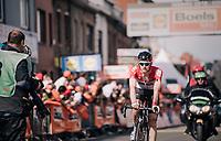 Tim Wellens (BEL/Lotto-Soudal) rolling in<br /> <br /> 104th Liège - Bastogne - Liège 2018 (1.UWT)<br /> 1 Day Race: Liège - Ans (258km)