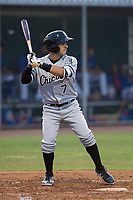 AZL White Sox first round draft pick and designated hitter Nick Madrigal (7) at bat during an Arizona League game against the AZL Cubs 2 at Sloan Park on July 13, 2018 in Mesa, Arizona. The AZL Cubs 2 defeated the AZL White Sox 6-4. (Zachary Lucy/Four Seam Images)