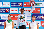 Luis Mas Bonet (ESP) Caja Rural-Seguros RGA retains the Turkish beauties jersey at the end of Stage 2 of the 2015 Presidential Tour of Turkey running 182km from Alanya to Antalya. 27th April 2015.<br /> Photo: Tour of Turkey/Stiehl Photography/Mario Stiehl/www.newsfile.ie