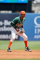 Greensboro Grasshoppers second baseman Jose Devers (2) during a game against the Lakewood BlueClaws on June 10, 2018 at First National Bank Field in Greensboro, North Carolina.  Lakewood defeated Greensboro 2-0.  (Mike Janes/Four Seam Images)