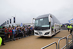 St Johnstone v Dundee United....17.05.14   William Hill Scottish Cup Final<br /> The St Johnstone team bus arrives at Celtic Park<br /> Picture by Graeme Hart.<br /> Copyright Perthshire Picture Agency<br /> Tel: 01738 623350  Mobile: 07990 594431