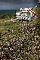 Europe/France/Aquitaine/64/Pyrénées-Atlantiques/Pays-Basque/Env  Ciboure: Blockhaus sur la  Corniche basque ou Corniche d'Urrugne