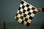 The checkered flag is out on the course at the Unadilla Valley Sports Center in New Berlin, New York on July 15, 2006, during the AMA Toyota Motocross Championship.