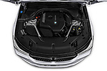 Car stock 2018 BMW 6 series gran turismo Sport 5 Door Hatchback engine high angle detail view