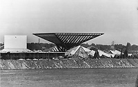 1965 FILE PHOTO - ARCHIVES <br /> <br /> This upside-down pyramid is the main feature of the pavilion of canada. It will be called Katimavik - Eskimo for meeting place - and is typical of the fair's wild architecture.<br /> <br /> <br /> PHOTO : Boris Spremo - Toronto Star Archives - AQP