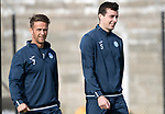 St Johnstone Training…29.09.17<br />Joe Shaughnessy and Chris Millar pictured training at McDiarmid Park ahead of tomorrow's trip to Aberdeen.<br />Picture by Graeme Hart.<br />Copyright Perthshire Picture Agency<br />Tel: 01738 623350  Mobile: 07990 594431