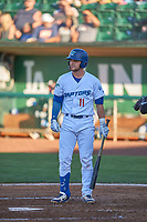 Tre Todd (11) of the Ogden Raptors bats against the Grand Junction Rockies at Lindquist Field on June 15, 2019 in Ogden, Utah. The Raptors defeated the Rockies 12-11. (Stephen Smith/Four Seam Images)
