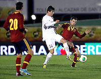 Spain's Alvaro Vazquez (b), Nacho and Norway's Borven during an International sub21 match. March 21, 2013.(ALTERPHOTOS/Alconada) /NortePhoto