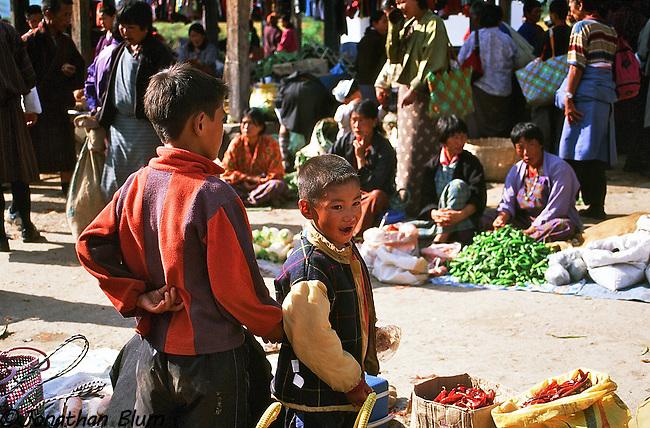 Market Scene, Bhutan