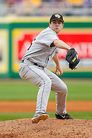 Starting pitcher Tim Cooney #35 of the Wake Forest Demon Deacons in action against the LSU Tigers at Alex Box Stadium on February 19, 2011 in Baton Rouge, Louisiana.  The Tigers defeated the Demon Deacons 4-3.  Photo by Brian Westerholt / Four Seam Images