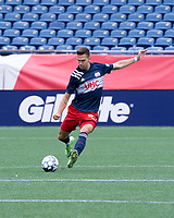 FOXBOROUGH, MA - JULY 4: Collin Verfurth #35 of the New England Revolution II during a game between Greenville Triumph SC and New England Revolution II at Gillette Stadium on July 4, 2021 in Foxborough, Massachusetts.
