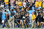 Southern Miss Golden Eagles celebrate during the Zaxby's Heart of Dallas Bowl game between the Washington Huskies and the Southern Miss Golden Eagles at the Cotton Bowl Stadium in Dallas, Texas.