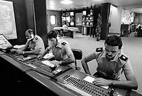 - Milano 1984, Vigili Urbani, sala operativa di piazza Beccaria<br /> <br /> - Milan 1984, traffic police, operations room in Beccaria square