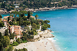 Frankreich, Provence-Alpes-Côte d'Azur, Roquebrune-Cap-Martin: Plage de Golfe Bleu | France, Provence-Alpes-Côte d'Azur, Roquebrune-Cap-Martin: Beach - Plage de Golfe Bleu