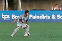 HARTFORD, CT - JULY 10: Matty Acosta #63 of New York Red Bulls II looks to pass during a game between New York Red Bulls II and Hartford Athletics at Dillon Stadium on July 10, 2021 in Hartford, Connecticut.