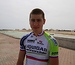 Liquigas-Cannondale rider Peter Sagan (SVK) relaxes before the start of Stage 4 of the 2012 Tour of Qatar from Al Thakhira to Madinat Al Shamal, Qatar. 8th February 2012.<br /> (Photo Eoin Clarke/Newsfile)