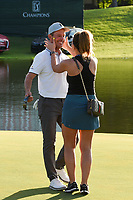 May 2nd 2021; The Woodlands, Texas, USA;  Mike Weir is congratulated by his girlfriend Michelle Money after winning the 2021 Insperity Invitational at The Woodlands Country Club on May 2, 2021 in The Woodlands, Texas.