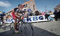 De Ronde van Vlaanderen 2012..Philippe Gilbert showing some panache up the Oude Kwaremont