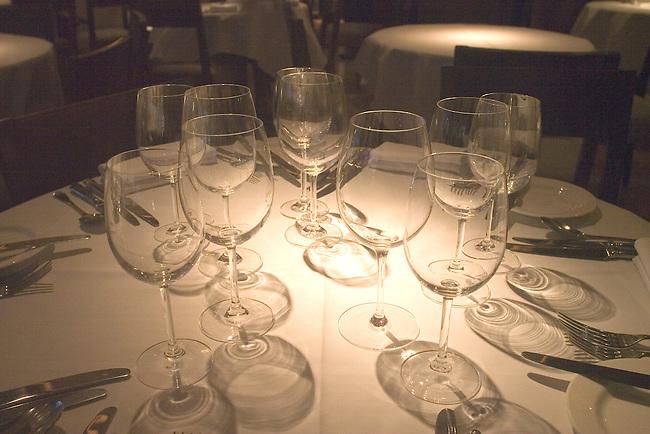 Wine Glasses, La Trompete Restaurant, London, England