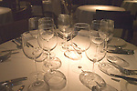 Wine Glasses, La Trompete Restaurant, London, England
