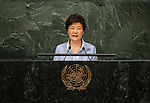 His Excellency Paul Biya, President of the Republic of Cameroon  9. Her Excellency Park Geun-hye, President of the Republic of Korea<br /> <br /> <br /> 6th plenary meeting High-level plenary meeting of the General Assembly (3rd meeting)