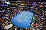 A general view of the stadium during the singles semi final match of the WTA Elite Trophy Zhuhai 2017 between Julia Goerges of Germany and Anastasija Sevastova of Latvia at Hengqin Tennis Center on November  04, 2017 in Zhuhai, China. Photo by Yu Chun Christopher Wong / Power Sport Images
