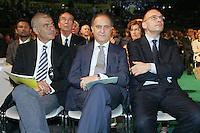 Pecoraro Scanio, Lorenzo Cesa e Enrico Letta.Coldiretti - Assemblea Nazionale 2010..Roma, 2 Luglio 2010..Photo Serena Cremaschi Insidefoto