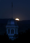 The harvest moon rises above Carson City, Nev., on Monday, Sept. 24, 2018. <br /> Photo by Cathleen Allison/Nevada Momentum