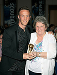 St Johnstone FC Player of the Year Awards 2017-18<br />Disabled Supporters Player of the Year is Chris Millar presented by Margaret Rintoul<br />Picture by Graeme Hart.<br />Copyright Perthshire Picture Agency<br />Tel: 01738 623350  Mobile: 07990 594431