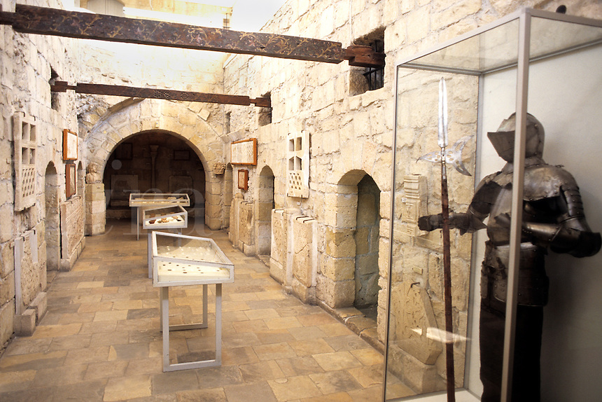Inside armour of Kolossi Castle in Limassol Cyprus