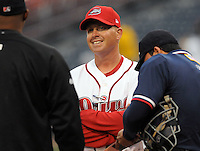 April 3, 2008: New manager Kevin Boles of the Greenville Drive, Class A affiliate of the Boston Red Sox, during the season opener against the Kannapolis Intimidators at Fluor Field at the West End in Greenville, S.C.   Photo by: Tom Priddy/Four Seam Images