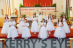 Dromclough NS 1st Communion: Pupils from Mrs Foran, Mrs Greaney & Mrs O'Shea who received their 1st communion from Fr. Anthony O'Sullivan in Our Lady & St. Senan's Church, Irremore, Listowel on Saturday last.