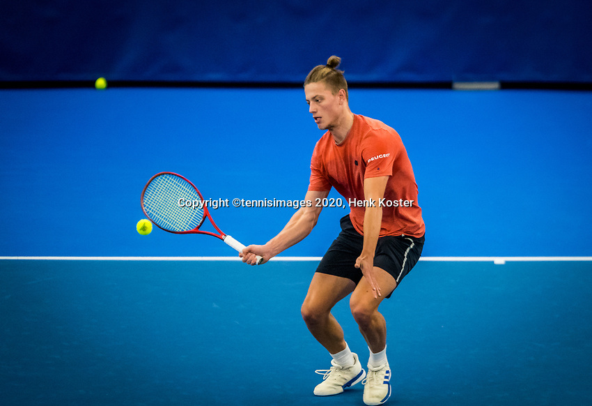Amstelveen, Netherlands, 18  December, 2020, National Tennis Center, NTC, NK Indoor, National  Indoor Tennis Championships,   : Tim van Rijthoven (NED) <br /> Photo: Henk Koster/tennisimages.com