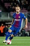 Javier Alejandro Mascherano of FC Barcelona in action during the Copa Del Rey 2017-18 Round of 16 (2nd leg) match between FC Barcelona and RC Celta de Vigo at Camp Nou on 11 January 2018 in Barcelona, Spain. Photo by Vicens Gimenez / Power Sport Images